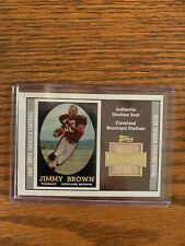 2001 Topps Archives Jimmy Brown Relic, Cleveland Browns