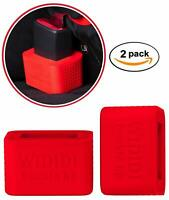 2-Pack Car Seat Belt Buckle Holder by Wididi Buckle Up - Soft Silicone