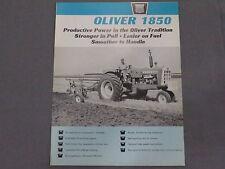 original 1965 Oliver 1850 Tractor sales Brochure Catalog
