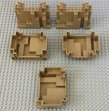 LEGO X5 New Bulk Lot Dark Tan Panel 4x10x6 Rock Rectangular Mountain part #6082