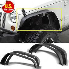 For Jeep Wrangler JK 4x Black Powder Coated Flat Fender Flares