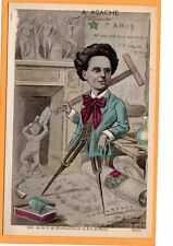 Esperanto Postcard - A. Agache Architect Universal Congress 1914 - Fantasy Image