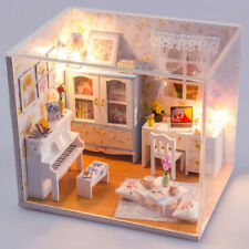Appartamento in kit fai da te Miniatura in legno con mobili in stile
