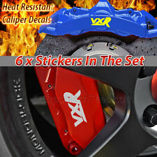 Corsa, Astra, Vectra, VXR, Brake Caliper Stickers Graphic Decals X6