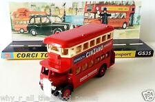 Diecast Model 1932 London Transport REGENT BUS on Custom CORGI GS35 Display Base