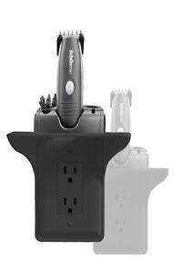 Power Perch: The Original Charging Shelf for Your Home - Black (2 Pack)