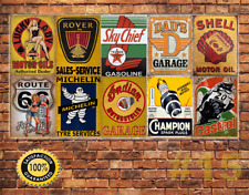 Job Lot 10 x Metal Tin Sign Wall Plaque Vintage Style Garage Workshop #15
