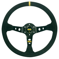 OMP Corsica 350mm Deep Dish Steering Wheel - Race / Rally / Drift BLACK - SUEDE
