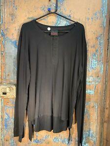Men's Black henley shirt by Queen of Darkness Goth Emo punk Alternative