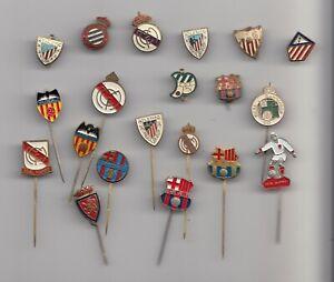 Vintage FOOTBALL CLUB pin badge brooch buttonhole lapel SPAIN enamel metal