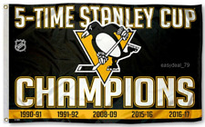 New 2017 FLAG: 5-Time Stanley Cup Champions Pittsburgh Penguins Flying 3x5 Feet