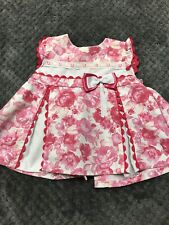 Spanish Style Dress Pink Roses 3 Months