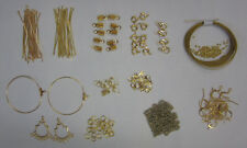 Findings Kit Gold Tone For Jewellery Making & Beading, Pins, Clasps,Chain,Crimps