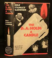 Erle Stanley Gardner THE D.A. HOLDS A CANDLE 1938 1st ED w/DJ mystery detective