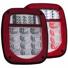 ANZO (861082) 1976-1985 Jeep Wrangler LED 2 Lens - Red/Clear, Chrome
