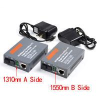 Optical Fiber Media Converter Fiber Transceiver Single Fiber SM 25km SC 10/100M