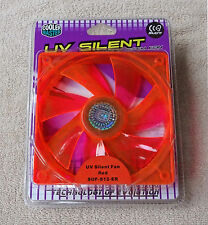 Cooler Master 120mm Fan UV Bright Orange Neon Orange Silent Quiet 3 Pin NEW