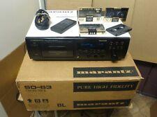 Marantz SD-63 Three Head Stereo Cassette Deck w Remote Boxed EXTRAS