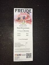 Sammler Ticket Bayer 04 Leverkusen - FC Bayern München 15.04.17 FCB