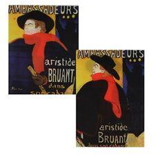 3D Animated Lenticular Postcard - Henri Lautrec- Ambassadeurs: Aristide Bruant