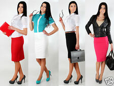 Classic Women's Office Skirt with Lining New High Waist Pencil Sizes 8-16 FA111