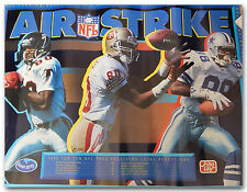92 AIR STRIKE NFL TOP RECEIVERS LIST POSTER ANDRE RISON JERRY RICE MICHAEL ERVIN
