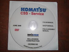KOMATSU CONSTRUCTION DOZERS BULLDOZERS SERVICE SHOP REPAIR MANUAL CD