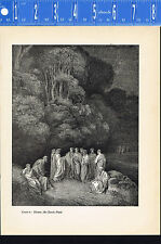 Dante's Inferno, HOMER, the Classic Poets-1948 Wood Engraved Print