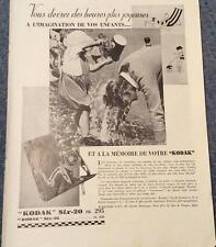 Publicité de presse Appareil Photo KODAK Six-20 French Ad 1932