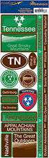 Reminisce Passports-TENNESSEE Cardstock Stickers scrapbooking MOUNTAINS