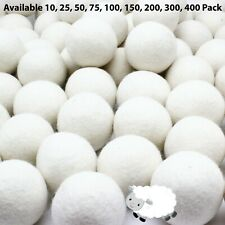 Wholesale Bulk Laundry Wool Dryer Balls - 100% New Zealand Wool, 10 25 50 75 100