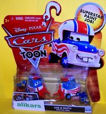 T - LUG & NUTTY with OIL CANS - Disney Cars Toon autos Mater Greater Toons Tales