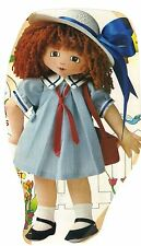 """Sewing Pattern for  15"""" cloth fabric rag doll  Body dress panties camisole shoes"""