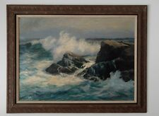 Alfred Fuller Artwork, Oil-based- Mohegan Island. One of a kind, 1 of 1