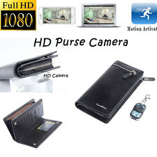 HD 1080P Spy Hidden Purse Wallet Camera Motion Detection Pinhole Videos Recorder