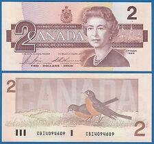 CANADA 2 Dollar P 94 c 1986 UNC Bonin Thiessen BC-55c Low Shipping Combine FREE