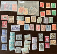 VINTAGE MINT SPAIN STAMPS LOT. SUBSETS, MNH, MH, GLASSINES, OVERPRINTS & MORE