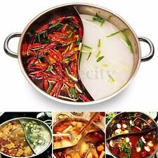 32cm Twin Hot Pot  Stainless Steel Shabu Dual Site Induction Compatible Cookware