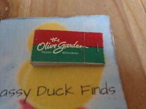 Vintage Matchbook Cover The Olive Garden Full