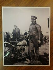 New listing 1930s INDIAN SPORT SCOUT V-TWIN MOTORCYCLE RACER MAN-LEATHERS PHOTO RACING CYCLE
