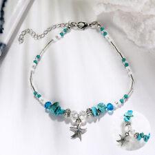 Boho Turquoise Starfish Beads Starfish Anklet Beach Sandal Bracelet Gift Ankle