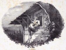 La Veillée à Paris à la Lithographie de G. Engelmann 1823