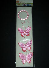 HOT PINK BUTTERFLY MOBILE SUNCATCHER  REDUCED PRICE