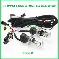 COPPIA LAMPADE H4 FARI AUTO H4-3 BIXENON KIT 12V 35W 6000K BI-XENO RICAMBIO