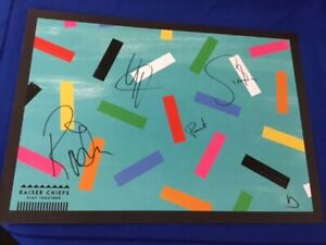 """KAISER CHIEFS-STAY TOGETHER-RARE PROMOTIONAL PRINT-SIGNED BY BAND-23"""" BY 17"""""""
