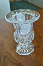 NWT - Shannon Crystal Vase With Frosted Lion Head Medallions