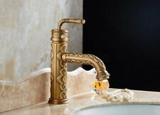 Vintage Antique Brass Single Handle Bathroom Sink Vessel Faucet Basin Mixer Tap