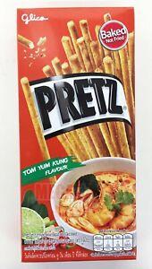 Glico PRETZ BREAD STICK TOM YUM KUNG FLAVOUR Food Stick Snacks Thai Style 23g