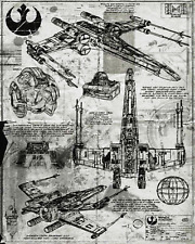 Star Wars X Wing Fighter,Aged Star Wars Print, Art Decor Gift Star Wars Fan