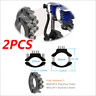 2X CNC Motorcycle 22-36mm Tube Fork Headlight Mount Bracket Light Holder Clamps